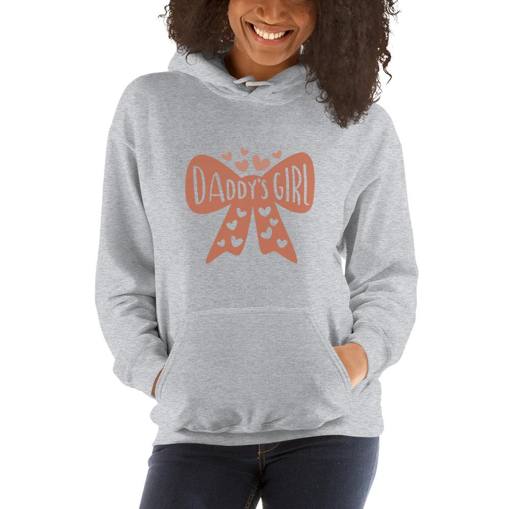 Daddy's girl Women Hooded Sweatshirt Marks'Marketplace Sport Grey S