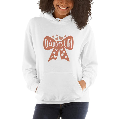 Image of Daddy's girl Women Hooded Sweatshirt Marks'Marketplace White S