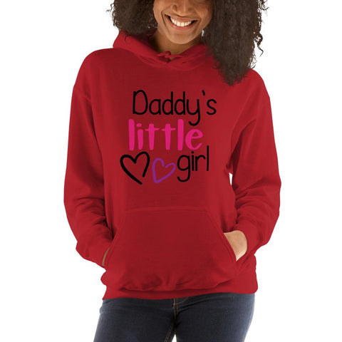 Image of Daddy's little girl Women Hooded Sweatshirt Marks'Marketplace Red S
