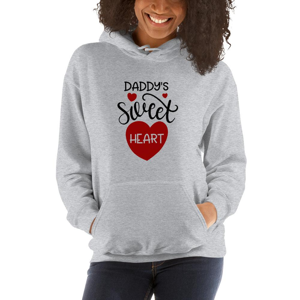 Daddy's sweet heart Women Hooded Sweatshirt Marks'Marketplace Sport Grey S