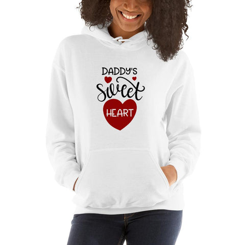 Image of Daddy's sweet heart Women Hooded Sweatshirt Marks'Marketplace White S