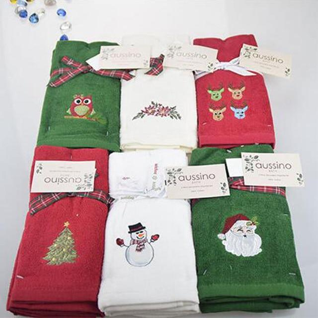 Decorative Christmas Embroidered Hand Towel/Kitchen Towel Set Marks'Marketplace santa claus 30x45cm China