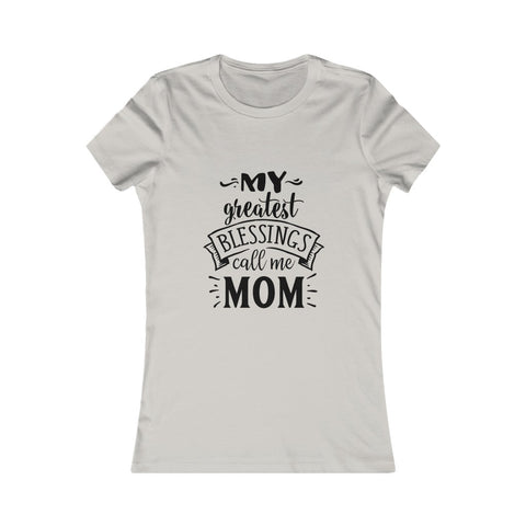 Image of Greatest Blessing Call Me Mom Tee