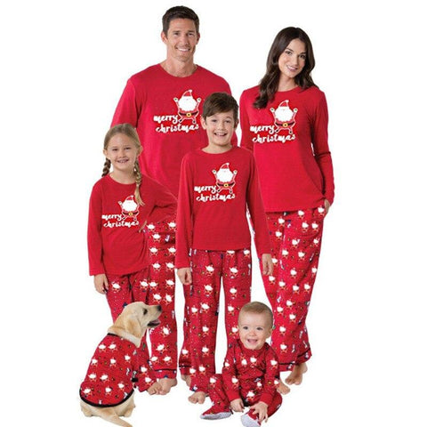Family Christmas Pajamas Matching Clothing Sets Marks'Marketplace Red 140 cm