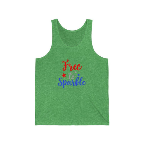 Image of Free To Sparkle Tank Tank Top Printify Green TriBlend XS