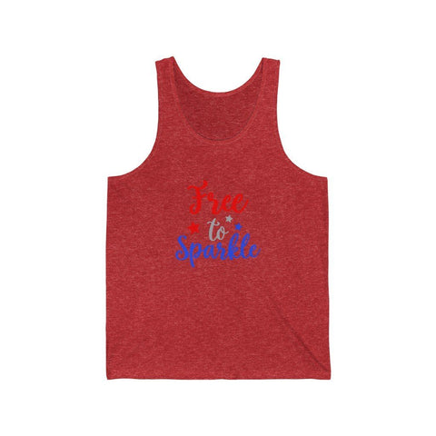 Image of Free To Sparkle Tank Tank Top Printify Red TriBlend XS