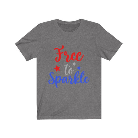 Image of Free To Sparkle Tee T-Shirt Printify Deep Heather XS