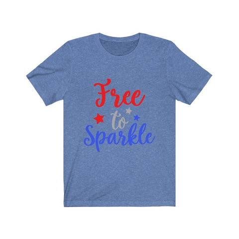 Image of Free To Sparkle Tee T-Shirt Printify Heather Columbia Blue XS