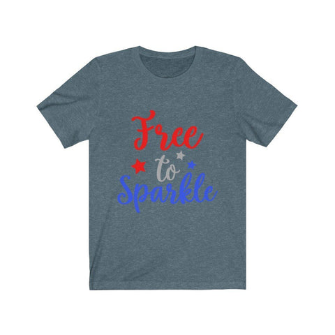 Image of Free To Sparkle Tee T-Shirt Printify Heather Slate XS