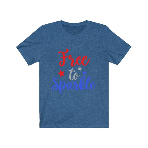 Image of Free To Sparkle Tee T-Shirt Printify Heather True Royal XS