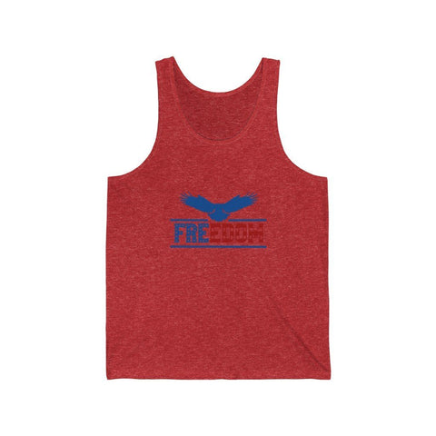 Image of Freedom Tank Tank Top Printify Red TriBlend XS