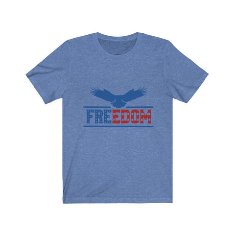 Image of Freedom Tee T-Shirt Printify Heather Columbia Blue XS