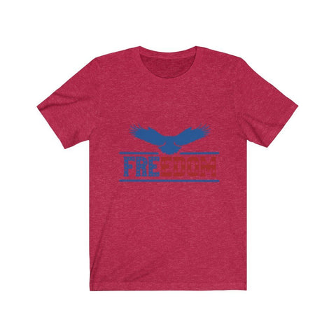 Image of Freedom Tee T-Shirt Printify Heather Red XS