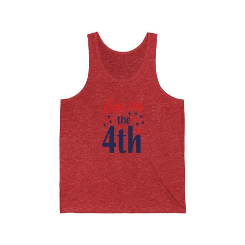 Image of Fun on the Fourth Tank Tank Top Printify Red TriBlend XS