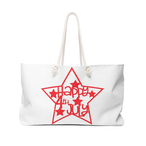 Happy Fourth of July Beach Bag Bags Printify 24x13