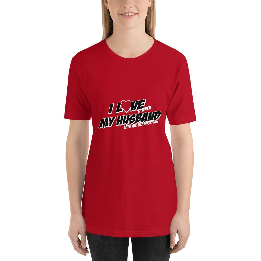 I love my husband Women Short-Sleeve T-Shirt Marks'Marketplace Red S