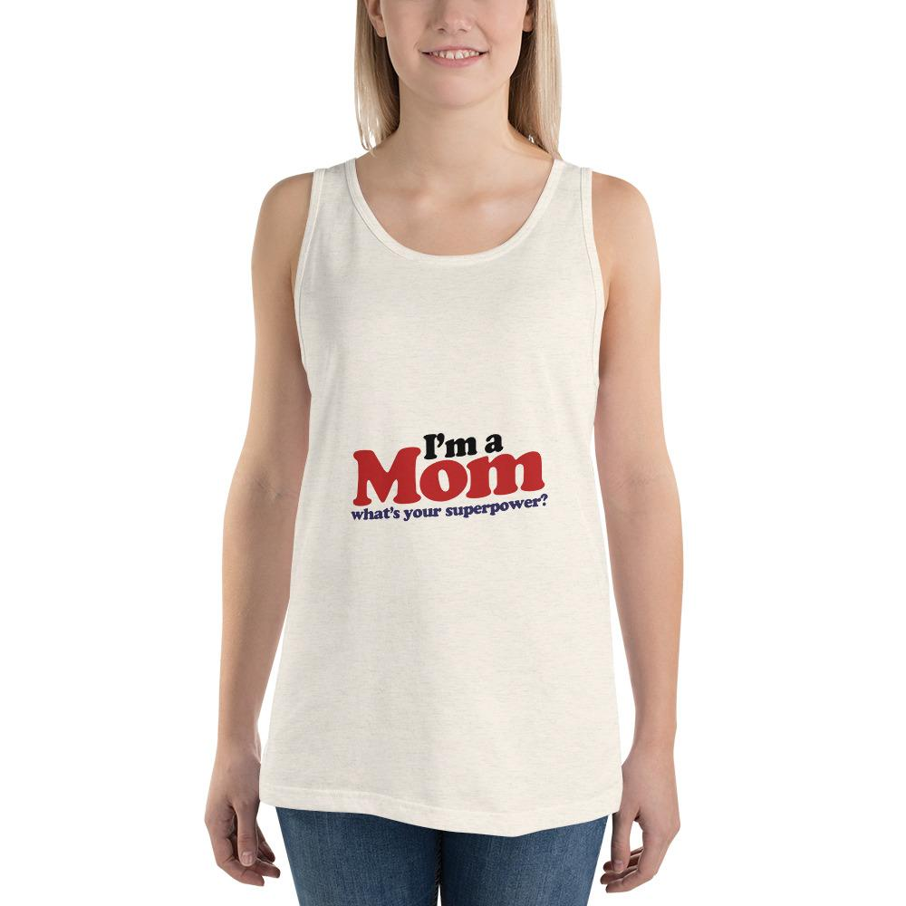 I'm a mom Women Tank Top Marks'Marketplace Oatmeal Triblend XS