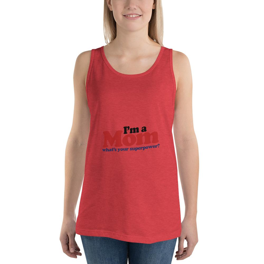 I'm a mom Women Tank Top Marks'Marketplace Red Triblend XS