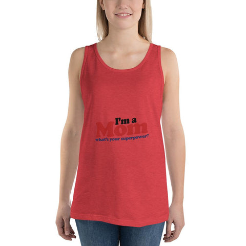 Image of I'm a mom Women Tank Top Marks'Marketplace Red Triblend XS