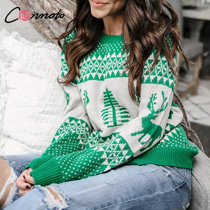 Knitted Pullovers Christmas Sweater