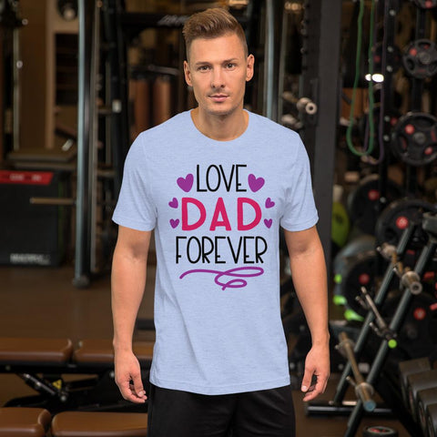Image of Love Dad Forever Marks'Marketplace Heather Blue M