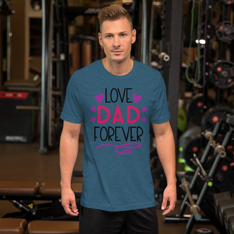 Image of Love Dad Forever Marks'Marketplace Heather Deep Teal M