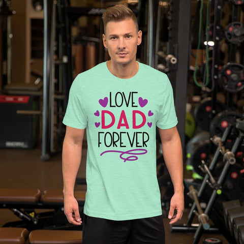 Image of Love Dad Forever Marks'Marketplace Heather Mint M