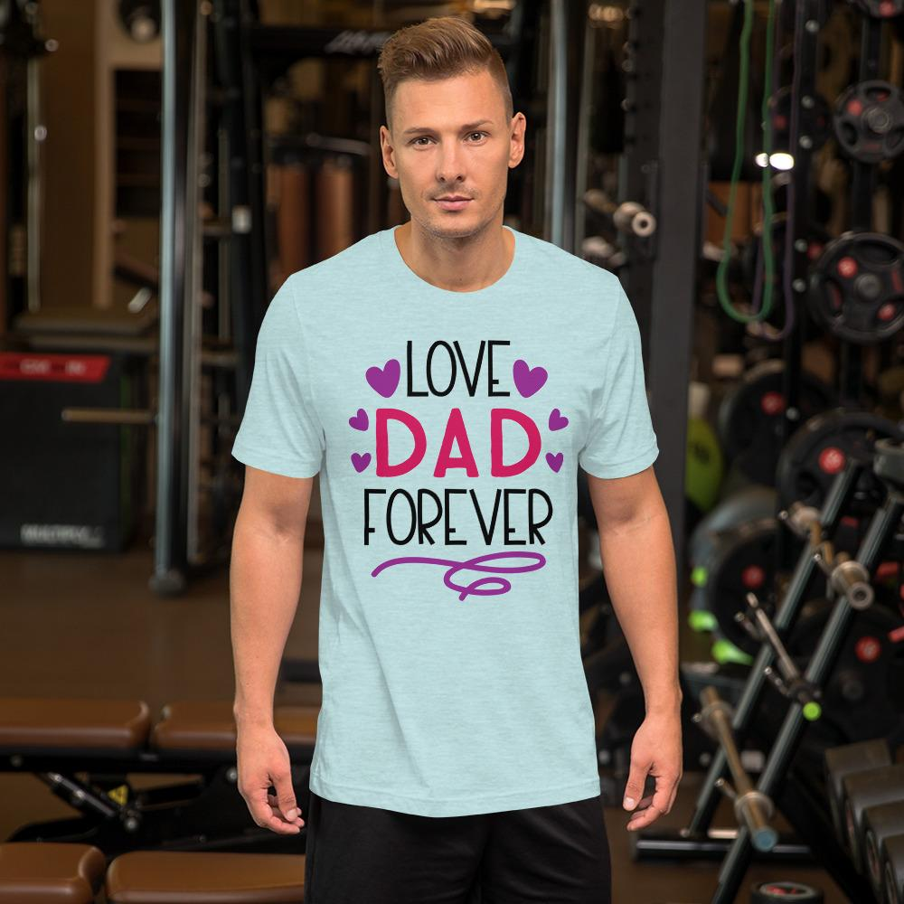 Love Dad Forever Marks'Marketplace Heather Prism Ice Blue M
