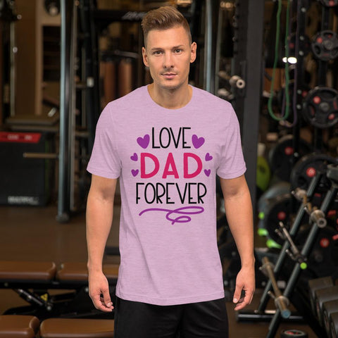 Image of Love Dad Forever Marks'Marketplace Heather Prism Lilac M