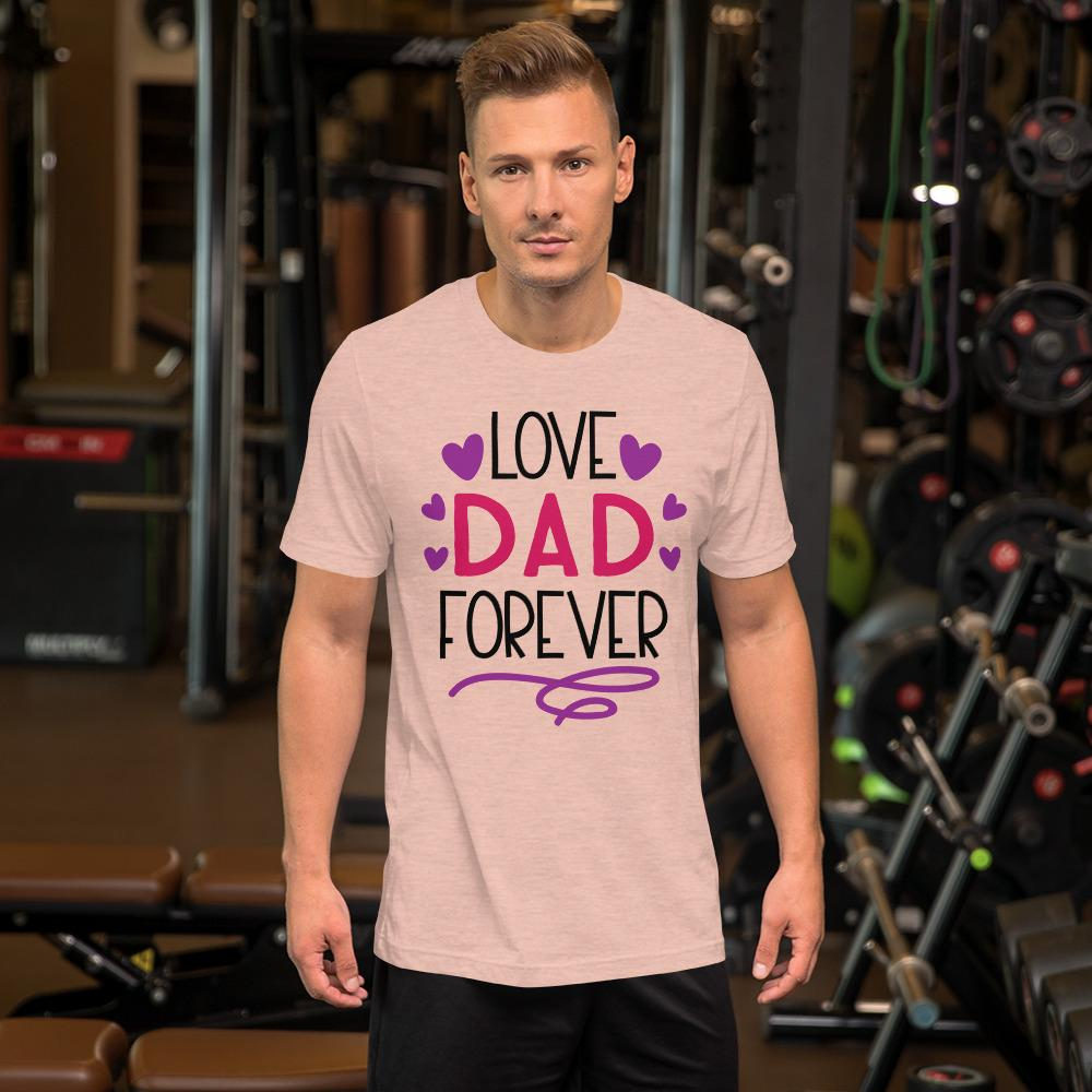 Love Dad Forever Marks'Marketplace Heather Prism Peach M