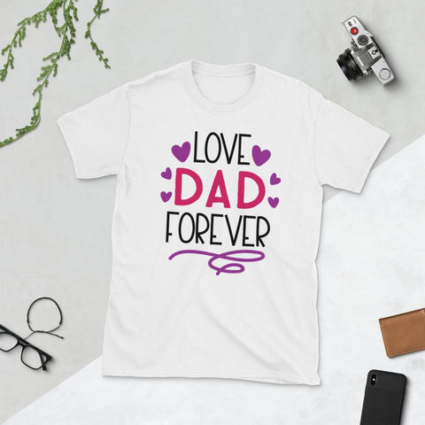 Image of Love Dad Forever Short-Sleeve Unisex T-Shirt Marks'Marketplace