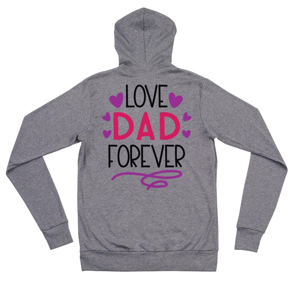 Love Dad Forever Unisex zip hoodie Marks'Marketplace