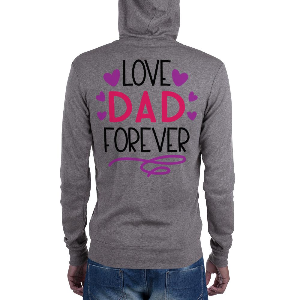 Love Dad Forever Unisex zip hoodie Marks'Marketplace XS