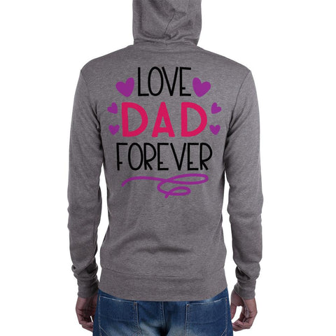 Image of Love Dad Forever Unisex zip hoodie Marks'Marketplace XS