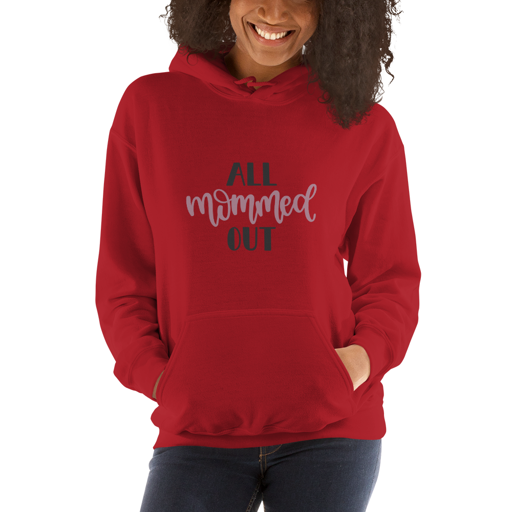 All mommed out Women Hooded Sweatshirt-Marks'Marketplace