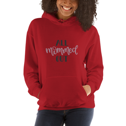 Image of All mommed out Women Hooded Sweatshirt-Marks'Marketplace