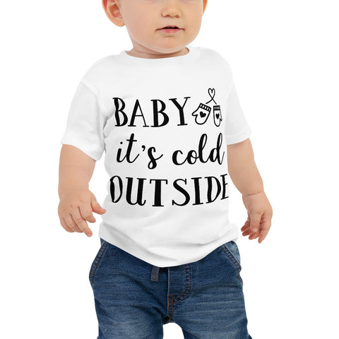 Image of Baby It's Cold Outside Baby Jersey Short Sleeve Tee-Marks'Marketplace