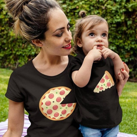 Image of Mother Daughter Matching T shirts Marks'Marketplace QR-D Mom S