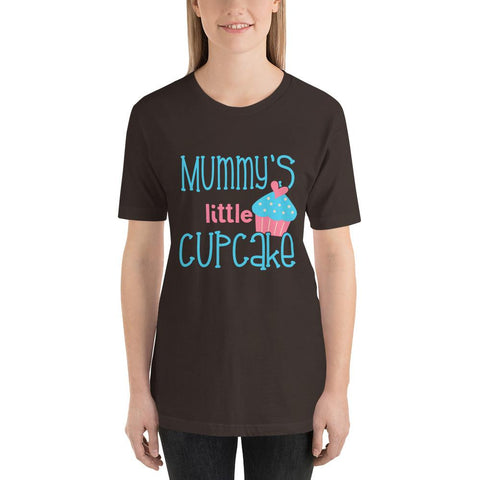 Image of Mummys Little Cupcake Short-Sleeve T-Shirt Marks'Marketplace Brown S