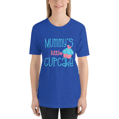Image of Mummys Little Cupcake Short-Sleeve T-Shirt Marks'Marketplace Heather True Royal S