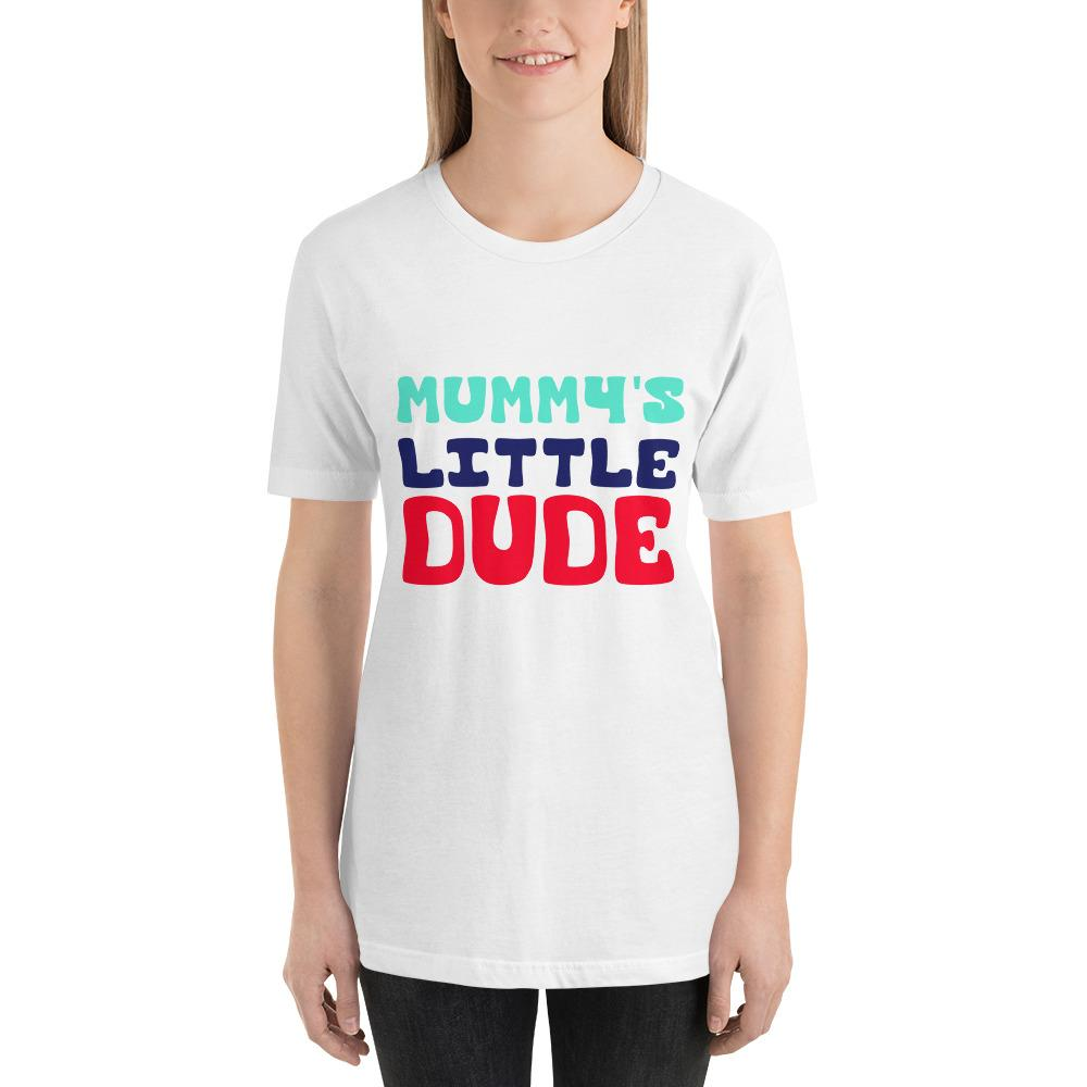 Mummy's Little Dude Women Short-Sleeve T-Shirt Marks'Marketplace White XS