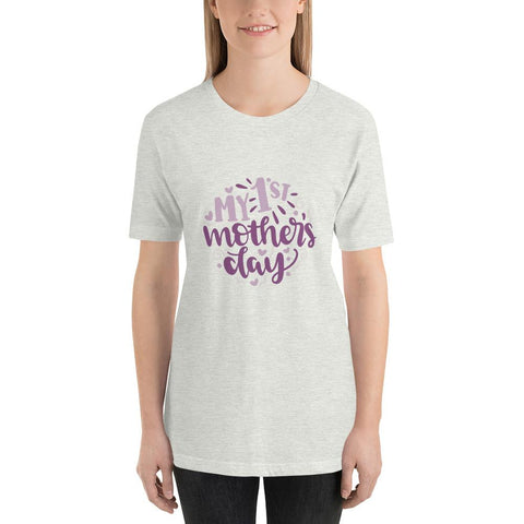 Image of My 1st mothers day Women Short-Sleeve T-Shirt Marks'Marketplace Ash S