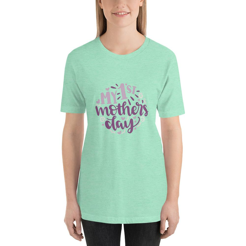 My 1st mothers day Women Short-Sleeve T-Shirt Marks'Marketplace Heather Mint S