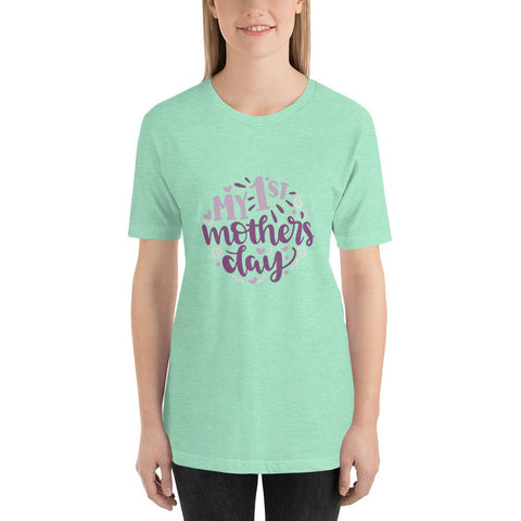 Image of My 1st mothers day Women Short-Sleeve T-Shirt Marks'Marketplace Heather Mint S