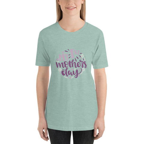 Image of My 1st mothers day Women Short-Sleeve T-Shirt Marks'Marketplace Heather Prism Dusty Blue XS