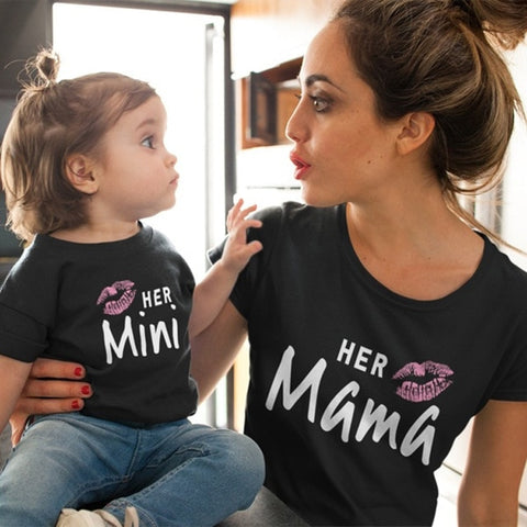 Image of Mother Daughter Matching T shirts-Marks'Marketplace