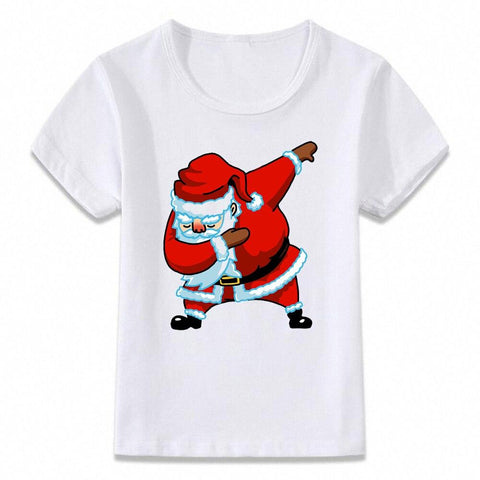 Santa Dabbing T Shirt Clothes for Kids T-shirt Marks'Marketplace oal080h 9T