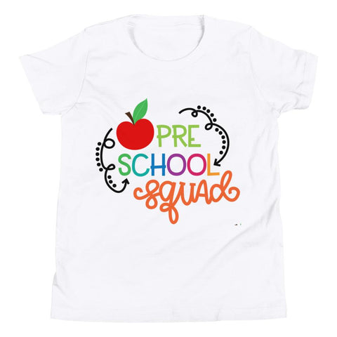 Image of School Squad Short Sleeve kids T-Shirt Marks'Marketplace White S