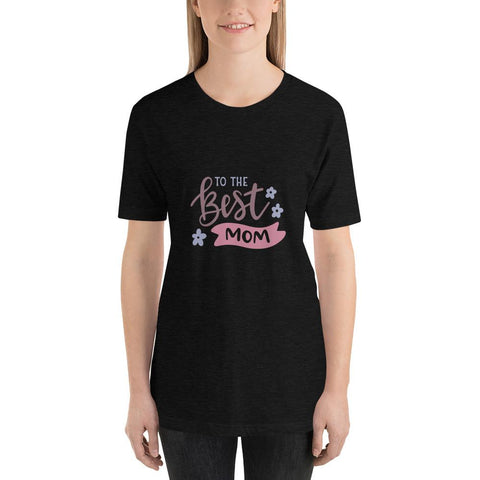 Image of To the best mom Women Short-Sleeve T-Shirt Marks'Marketplace Black Heather XS