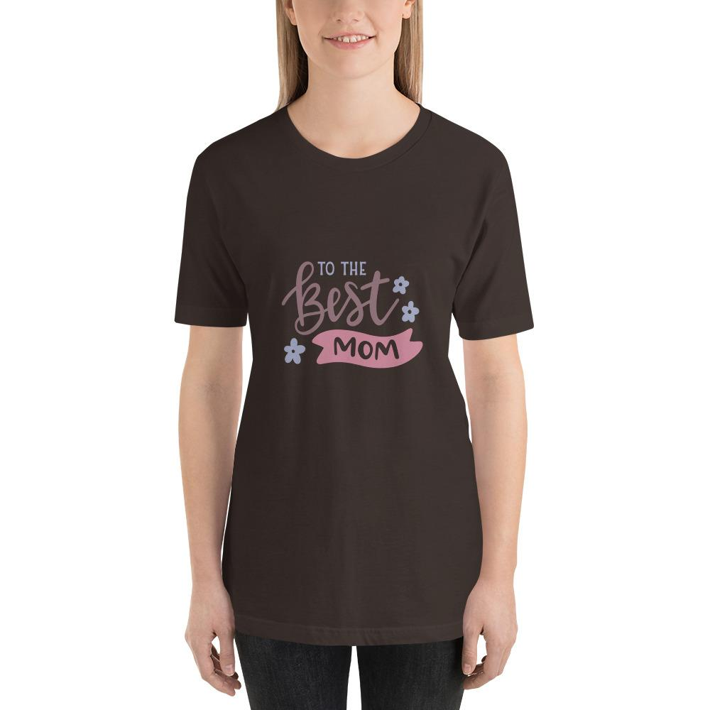To the best mom Women Short-Sleeve T-Shirt Marks'Marketplace Brown S